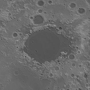 Mare Crisium - Image: Crisium basin topo