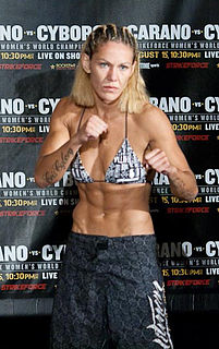 Cris Cyborg Brazilian mixed martial arts fighter
