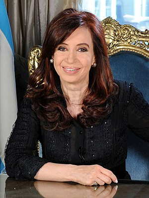 Cristina Fernández de Kirchner - Image: Cristinakirchnermens aje 2010