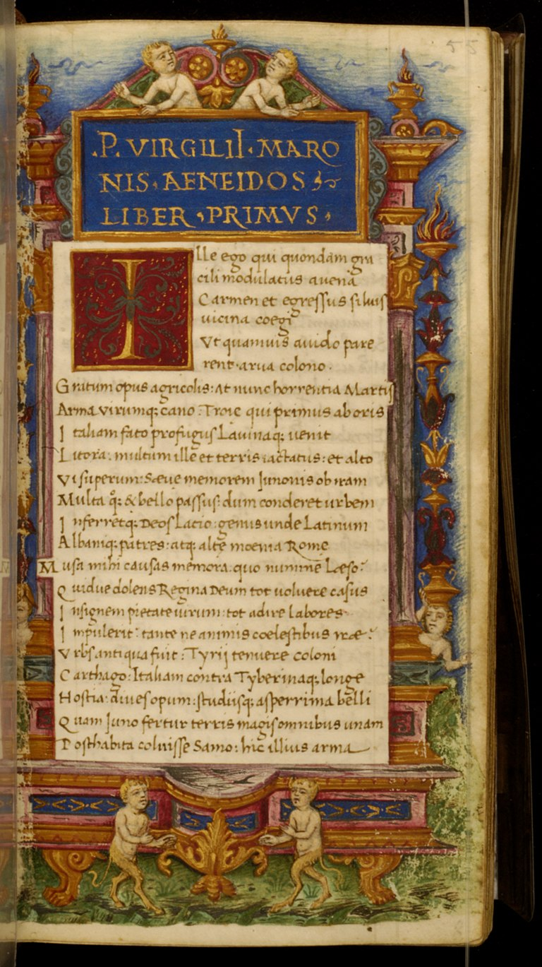 Cristoforo Majorana - Leaf from Eclogues, Georgics and Aeneid - Walters W40055R - Open Obverse