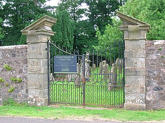 James Hamilton (assassin) - Image: Crosbie Church gates, Ayrshire