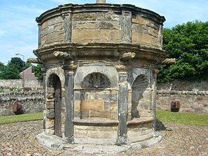 Mercat cross - the cross-house at Prestonpans, built some time after 1617 when the right to hold a fair was granted