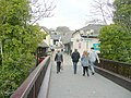 Crossing the footbridge - geograph.org.uk - 1759997.jpg