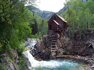National Register of Historic Places listings in Gunnison County, Colorado - Image: Crystal Mill 1