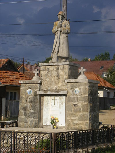 War memorial in Pauleni-Ciuc, Romania Csikpalfalva2.JPG