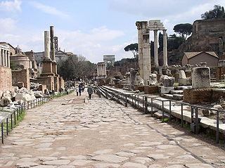 Via Sacra street in Rome