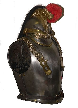 Cuirass - An 1854 cuirass worn by the French Cuirassiers
