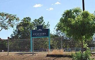 Culcairn railway station - Station sign, 2009