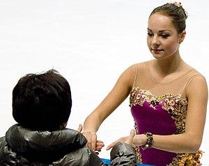 Jelena Glebova - Glebova and former coach Levandi at 2010 Cup of Russia