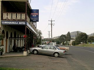 Currabubula Town in New South Wales, Australia