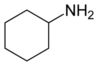 Cyclohexylamine - Image: Cyclohexylamine 2D skeletal