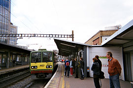 DART train at Tara Street station.jpg