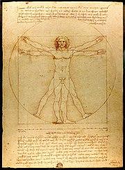 O homem vitruviano de Leonardo da Vinci sintetiza o ide�rio renascentista: humanista e cl�ssico
