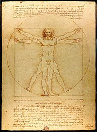 Leonardo da Vinci's Vitruvian Man (ca. 1487) is often used as a representation of symmetry in the human body and, by extension, the natural universe.