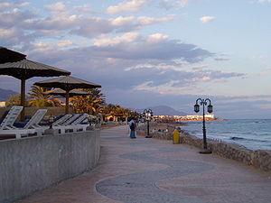 Dahab - Beach promenade on a winter day