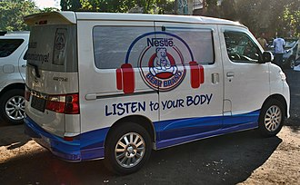 Nestlé Bear Brand - Image: Daihatsu Luxio commercial van, Denpasar