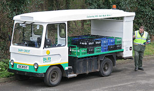 Smith Electric Vehicles - A SEV milk float, the most popular type of Smith Electric Vehicle from the 1950s to 1980s