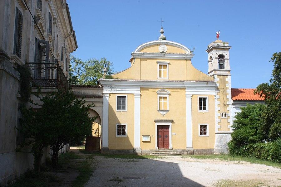 Dajla (Novigrad), das ehemalige Kloster, Kirche