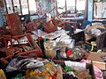Damage to a school classroom in Tacloban caused by Typhoon Haiyan (11290331494).jpg
