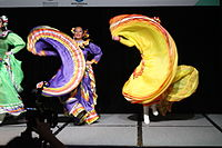 Dancing at the Wikimania 2015 Opening Ceremony IMG 7605.JPG