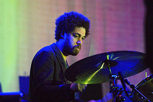 Danger Mouse performing with Broken Bells in 2010