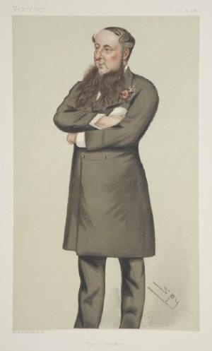 "Daniel O'Donoghue (Irish politician) - ""The O'Donoghue"" as caricatured by Spy (Leslie Ward in Vanity Fair, October 1880"