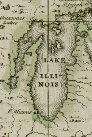 Darlinton map of lake Michigan 1680.png