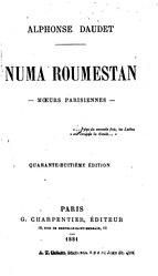 Alphonse Daudet: Numa Roumestan