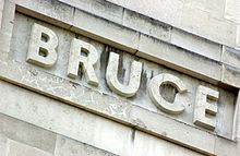 David Bruce's name as it features on the LSHTM Frieze in Keppel Street