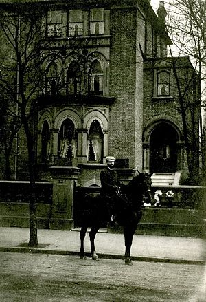 David Gestetner - David Gestetner outside his home at 124 Highbury New Park, London, circa 1905