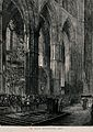 David Livingstone's grave at Westminster Abbey. Etching. Wellcome V0018864.jpg
