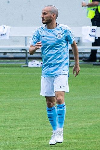 David Silva - Silva warming up before a preseason match against Tottenham in July 2017