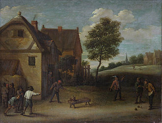 National Gallery of Armenia - Playing Skittles, by David Teniers the Younger