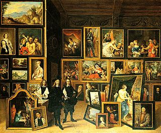 art gallery painting by David Teniers the Younger