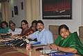 Dayanidhi Maran launched the websites on (i)' Baba Saheb Ambedkar Hastshilp Vikas Yojana' (ii) 'Location and Theme based Handicraft Products' and (iii) 'e-book -Handmade in India, in New Delhi on June 09, 2010.jpg