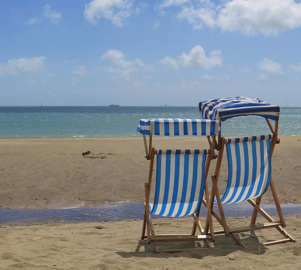 Deckchairs at Sandown, Isle of Wight