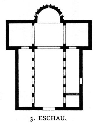 St Trophimus' Church, Eschau - Floor plan of the church (drawn between 1887 and 1901)
