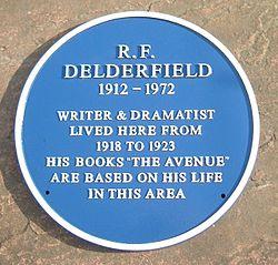 Photo of R. F. Delderfield blue plaque