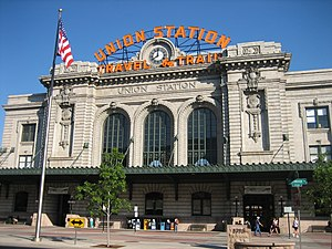 Denver Union Station - Front of historic station building, facing Wynkoop St.