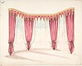 Design for Red Curtains with a Red and Gold Pelmet MET DP807416.jpg