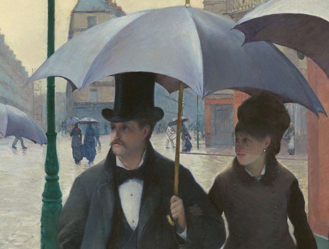 paris avenue rainy day