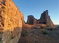 Dettaglio mura del castello di Las Plassas.jpg
