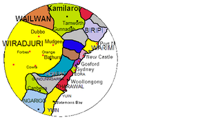 Awabakal - Traditional lands of Australian Aboriginal tribes around Newcastle, New South Wales