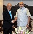 Director General of the IAEA Yukiya Amano with Prime Minister Narendra Modi.jpg
