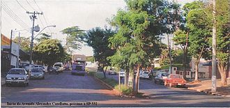 Betel (district of Paulínia) - View of the entrance of Betel, near the SP-332