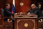 Dmitry Medvedev and Sergey Belokonev 26 June 2012.jpeg