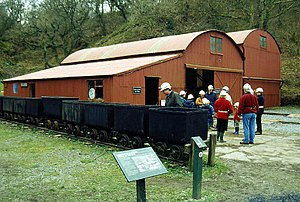Dolaucothi Gold Mines - Visitors touring the mines