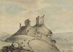Dolwyddelan Castle - Dolwyddelan castle, c.1778, in Thomas Pennant's A Tour of Wales