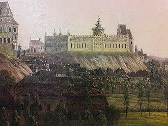 Lublin Castle - Image: Dombeck Arrival of General Zajączek to Lublin (detail) 02