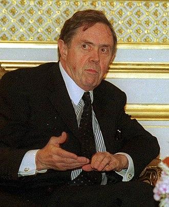 Don Johnston - The Honourable Donald J. Johnston, P.C., O.C., Q.C. (pictured on left)